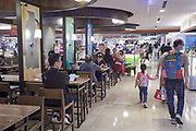 People in a food court in a Taipei department store.