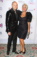 Lincoln Townley & Denise Welch, The Out In The City & g3 Readers Awards, The Landmark Hotel, London UK, 25 April 2014, Photo by Brett D. Cove