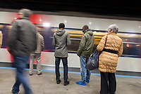 Passengers / commuters at Gare du Nord.