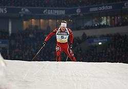 28.12.2013, Veltins Arena, Gelsenkirchen, GER, IBU Biathlon, Biathlon World Team Challenge 2013, im Bild Emil Hegle Svendsen (Norwegen / Norway) // during the IBU Biathlon World Team Challenge 2013 at the Veltins Arena in Gelsenkirchen, Germany on 2013/12/28. EXPA Pictures © 2013, PhotoCredit: EXPA/ Eibner-Pressefoto/ Schueler<br /> <br /> *****ATTENTION - OUT of GER*****