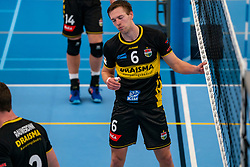 Nico Manenschijn #6 of Dynamo in action in the second round between Sliedrecht Sport and Draisma Dynamo on February 29, 2020 in sports hall de Basis, Sliedrecht
