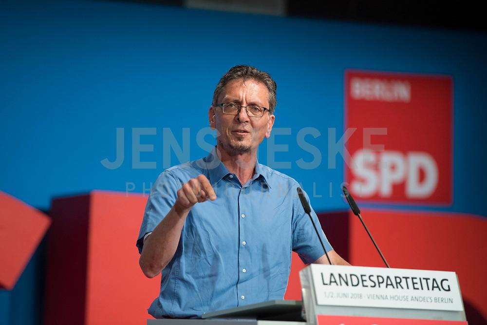 DEU, Deutschland, Germany, Berlin, 02.06.2018: Christian Gaebler, Chef der Senatskanzlei Berlin, beim Landesparteitag der Berliner SPD im Hotel Andels.