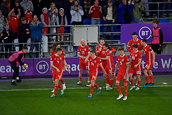 CARDIFF, WALES - Sunday, October 13, 2019: Wales' captain Gareth Bale celebrates after scoring the equalising goal during the UEFA Euro 2020 Qualifying Group E match between Wales and Croatia at the Cardiff City Stadium. The game ended in a 1-1 draw. (Pic by Paul Greenwood/Propaganda)