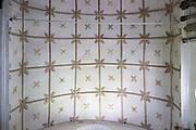 Historic interior of Saint John the Baptist church, Mildenhall, Wiltshire, England, UK