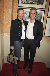 PETER & SOPHIE THOMPSON at the engagement party of Vanessa Neumann and William Cash held at 16 Westbourne Terrace, London W2 on 15th April 2008.<br />