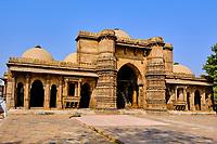 Inde, Etat de Gujarat, Ahmedabad, classé Patrimoine Mondial de l'UNESCO, mosquée Hazrat Harir // India, Gujarat, Ahmedabad, Unesco World Heritage city, Hazrat Harir mosque