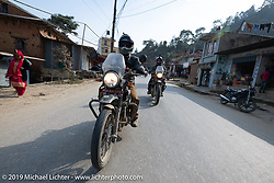 Biltwell's Patrick Lies riding a Royal Enfield Himalayan in Motorcycle Sherpa's Ride to the Heavens motorcycle adventure in the Himalayas of Nepal. Riding from Daman back to Kathmandu. Wednesday, November 13, 2019. Photography ©2019 Michael Lichter.