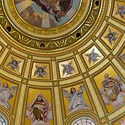 St Stephens Basilica golden dome interior, Budapest, Hungary (April 2007)