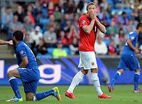 Fotball <br /> UEFA Euro 2016 Qualifying Competition<br /> 12.06.2015<br /> Norge v Aserbajdsjan / Norway v Aserbajdsjan<br /> Foto: Morten Olsen/Digitalsport<br /> <br /> Alexander Søderlund (9) - NOR