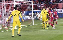 STYLEPREPENDAaron Long (33) of Red Bulls scores goal during 2nd leg MLS Cup Eastern Conference semifinal game against Columbus Crew SC at Red Bul Arena Red Bulls won 3 - 0 agregate 3 - 1 and progessed to final  (Credit Image: © Lev Radin/Pacific Press via ZUMA Wire)