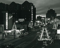 1966 Looking west on Hollywood Blvd. and McCadden Pl. at Christmastime