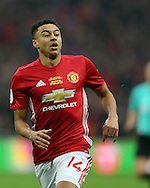 Jesse Lingard of Manchester Utd looks on. EFL Cup Final 2017, Manchester Utd v Southampton at Wembley Stadium in London on Sunday 26th February 2017. pic by Andrew Orchard, Andrew Orchard sports photography.