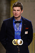 Officiele Huldiging van de Olympische medaillewinnaars Sochi 2014 / Official Ceremony of the Sochi 2014 Olympic medalists.<br /> <br /> Op de foto: Sven Kramer