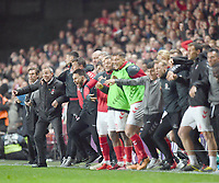 Football - 2018 / 2019 EFL Sky Bet League One - Play-Off Semi-Final, Second Leg: Charlton Athletic (2) vs. Doncaster Rovers (1)<br /> <br /> Charlton Athletic manager Lee Bowyer celebrates after they win on penalties, at The Valley.<br /> <br /> COLORSPORT/ASHLEY WESTERN
