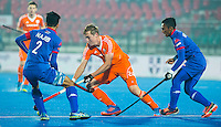 LUCKNOW (India) -   Junior World Cup hockey  U21 for men .  Netherlands v Malaysia (7-2).  Floris Wortelboer (NED)  . left Najib Hassan (MAS).   COPYRIGHT  KOEN SUYK