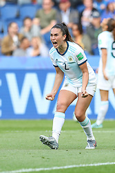 June 10, 2019: Paris, France: Aldana Cometti (and Agustina Barroso of Argentina celebrate 0-0 draw during match against Japan match valid for group D of the first phase of the Women's Soccer World Cup at the Parc Des Princes in Paris in France on Monday, 10. (Credit Image: © Vanessa Carvalho/ZUMA Wire)