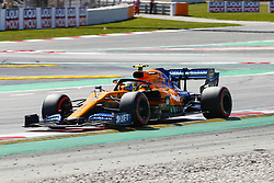 May 11, 2019 - Barcelona, Catalonia, Spain - McLaren Renault driver Lando Norris (4) of Great Britain during F1 Grand Prix qualifying celebrated at Circuit of Barcelona 11th May 2019 in Barcelona, Spain. (Credit Image: © Mikel Trigueros/NurPhoto via ZUMA Press)