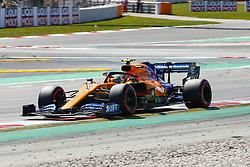 May 11, 2019 - Barcelona, Catalonia, Spain - McLaren Renault driver Lando Norris (4) of Great Britain during F1 Grand Prix qualifying celebrated at Circuit of Barcelona 11th May 2019 in Barcelona, Spain. (Credit Image: © Mikel Trigueros/NurPhoto via ZUMA Press)