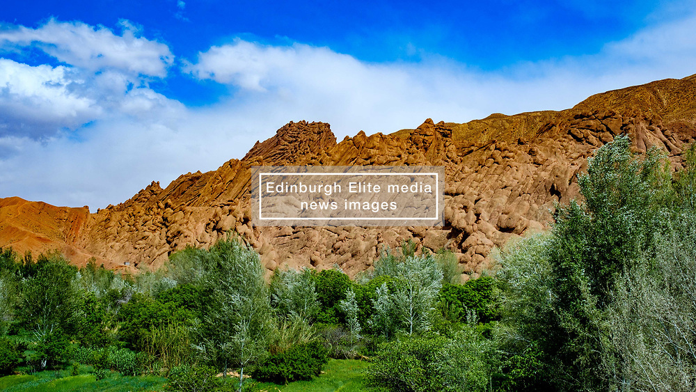 Rock formations bear the village of Imzzoudar in the Dades Valley, Morocco<br /> <br /> (c) Andrew Wilson   Edinburgh Elite media