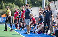 ALMERE - coach Arjan Jolie (Almere) tijdens   de  TULP hoofdklasse competitie wedstrijd heren,    Almeerse HC-Oranje Rood (2-4).   COPYRIGHT KOEN SUYK