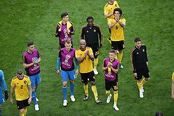 July 14, 2018 - Saint Petersbourg, Russie - SAINT PETERSBURG, RUSSIA - JULY 14 : celebration of the Belgian players during the FIFA 2018 World Cup Russia Play-off for third place match between Belgium and England at the Saint Petersburg Stadium on July 14, 2018 in Saint Petersburg, Russia, 14/07/18 (Credit Image: © Panoramic via ZUMA Press)