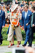 Koningsdag 2019 in Amersfoort / Kingsday 2019 in Amersfoort.<br /> <br /> Op de foto:  Koning Willem-Alexander en koningin Maxima  ///  King Willem-Alexander and Queen Maxima