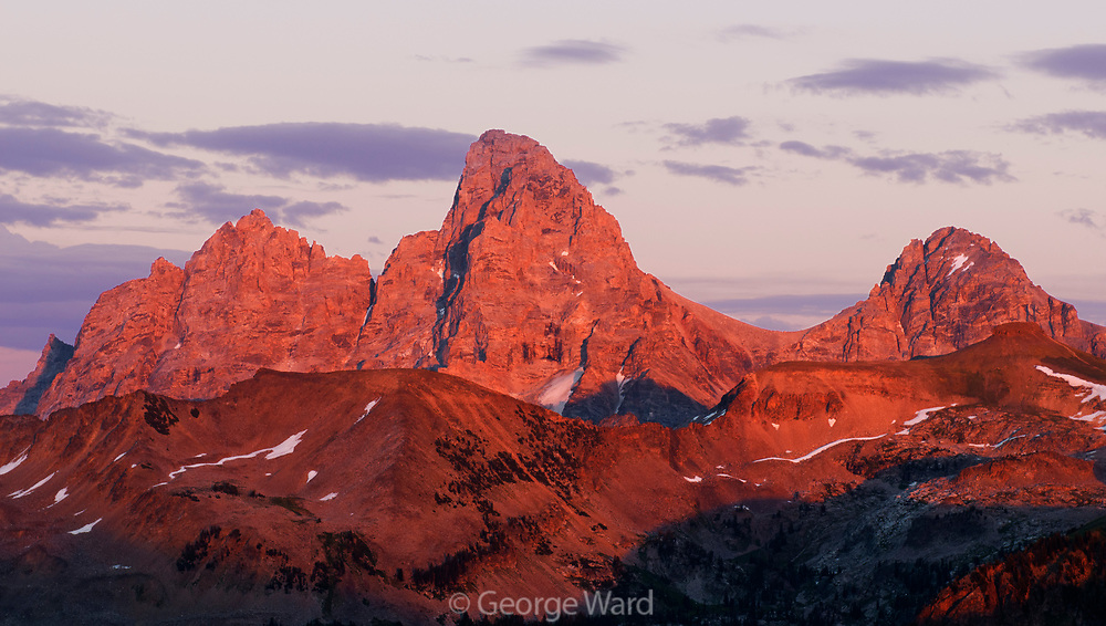 The Teton Range at Sunset seen from the West, Caribou-Targhee National Forest, Idaho