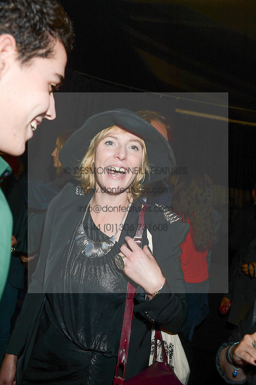 ANNA WINSLET sister of Kate Winslet at a party to celebrate the 1st birthday of nightclub 2&8 at Mortons held in Berkeley Square, London on 3rd October 2013.