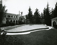 1937 Pool area, Garden of Allah Hotel on Sunset Blvd. in West Hollywood