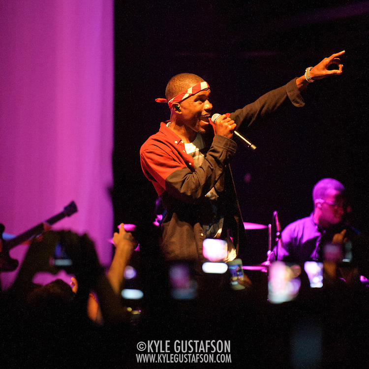 WASHINGTON, DC - July 23rd, 2012 - R&B sensation Frank Ocean performs during a sold-out show at the 9:30 Club in Washington, D.C. Ocean, who recently declared that he is gay, has received widespread acclaim for his debut album, Channel Orange.(Photo by Kyle Gustafson/For The Washington Post)