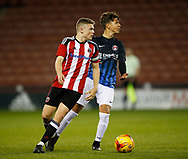 Regan Slater of Sheffield Utd in action during the U18 Professional Development League 2 play off semi final match at  Bramall Lane, Sheffield. Picture date: April 21st 2017. Pic credit should read: Simon Bellis/Sportimage