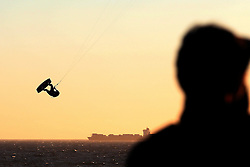 Red Bull King of the Air Winner Nick Jacobsen of Denmark in action during the Red Bull King of the Air kiteboarding competition held at Big Bay in Cape Town, South Africa on the 2nd February 2017.<br /> <br /> Photo by Shaun Roy