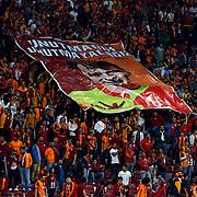 Galatasaray's supporters during their Turkish Super League soccer match Galatasaray between Mersin idman Yurdu at the AliSamiYen Spor Kompleksi TT Arena at Seyrantepe in Istanbul Turkey on Saturday, 12 September 2015. Photo by Kurtulus YILMAZ/TURKPIX