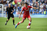 Peter Whittingham of Cardiff city in action. Skybet football league championship match, Cardiff city v Sheffield Wed at the Cardiff city stadium in Cardiff, South Wales on Saturday 27th Sept 2014<br /> pic by Andrew Orchard, Andrew Orchard sports photography.