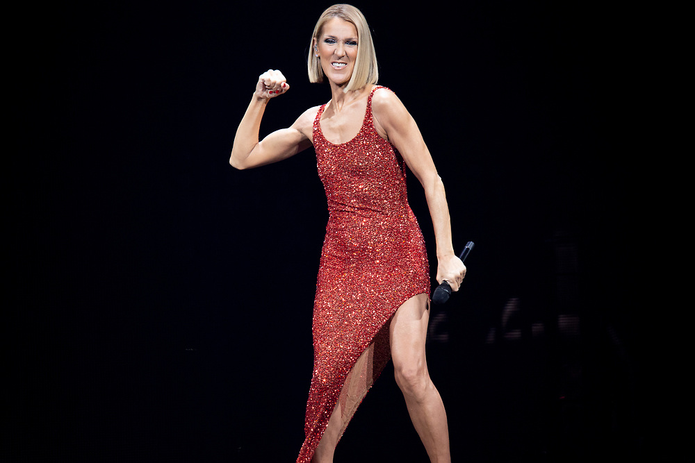 Celine Dion performs at the Fiserv Forum in Milwaukee, WI on November 4, 2019.