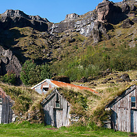 Núpsstaður is a small farm with old turfhouses dating from the early 19th century. The farm was run by two brothers until one of them died in 2004.
