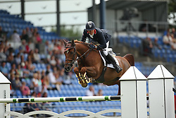 Delestre Simon, (FRA), Ryan Des Hayettes<br /> Team Competition round 1 and Individual Competition round 1<br /> FEI European Championships - Aachen 2015<br /> © Hippo Foto - Stefan Lafrentz<br /> 19/08/15