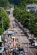 Quintana van de Movistar ploeg. In Utrecht is deTour de France van start gegaan met een tijdrit. De stad was al vroeg vol met toeschouwers. Het is voor het eerst dat de Tour in Utrecht start.<br /> <br /> In Utrecht the Tour de France has started with a time trial. Early in the morning the city was crowded with spectators. It is the first time the Tour starts in Utrecht.