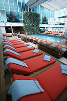 Celebrity Silhouette. Celebrity cruises' new ship launched in Hamburg 21st July 2011..Interior feature photos..Solarium.