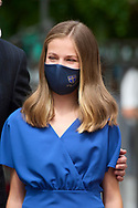 Crown Princess Leonor attends for The Confirmation of Princess Leonor at Asuncion de Nuestra Senora Church  on May 28, 2021 in Madrid, Spain