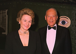 MRS ANTHONY WILSON and her father SIR MICHAEL RICHARDSON, at a fashion show in London on 12th May 1998.MHL 4
