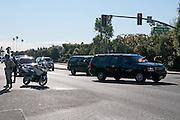 President Obama Motorcade in Corona Del Mar