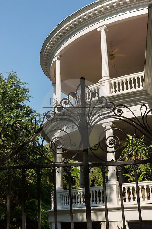 The circular porch at 15 Meeting Street in historic Charleston, SC.