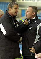 Photo: Matt Bright/Sportsbeat Images.<br /> Millwall v AFC Bournemouth. The FA Cup. 01/12/2007.<br /> Millwall manager Kenny Jackett (r) and Bournemouth Manager Kevin Bond (l)