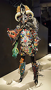 """Inkling"" (2013) costume by Gillian Saunders. WOW, World of Wearable Art (TM) is New Zealand's largest arts show. This showcase of work emerges from WOW, a spectacular international design competition where art and fashion intersect. This July 8, 2016 photo is from an exhibition at the EMP Museum, now called MOPOP (Museum of Pop Culture), Seattle, Washington, USA."
