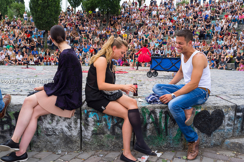 Weekend at Mauerpark in Prenzlauer Berg in Berlin Germany