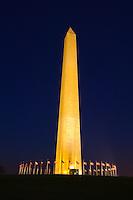 The Washington Monument in predawn light,  Washington, District of Columbia, USA