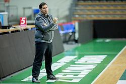 Saso Filipovski, head coach of basketball club Stelmet BC Zielona Gora (POL) during practice session of his team, on January 21, 2016 in CRS Hala Zielona Góra, Zielona Gora, Poland. Photo by Vid Ponikvar / Sportida