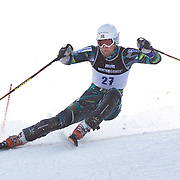 Lars Elton Myhre, Norway, in action during the Men's Slalom event during the Winter Games at Cardrona, Wanaka, New Zealand, 24th August 2011. Photo Tim Clayton...