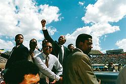 May 24, 1994 - South Africa - NELSON MANDELA campaigning for President. (Credit Image: © Aftonbladet/IBL/ZUMAPRESS.com)